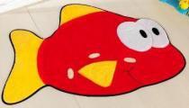 Tapete Peixe - Vermelho - Guga Tapetes