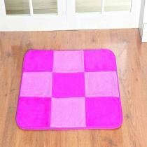 Tapete retangular patchwork pink - Dourados enxovais