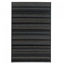 Tapete Retangular Sisal Aracaju Abstrato Niazitex 1,60mx2,30m Preto -