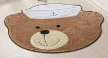 Tapete Urso Marinheiro - Bege - Guga Tapetes