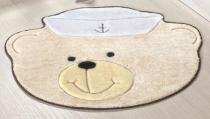 Tapete Urso Marinheiro - Palha - Guga Tapetes