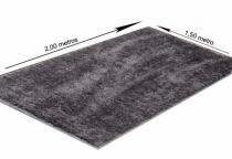 Tapetes linha Soft Villa Textil - 1,50x2,00m - Prata - Villa Textil