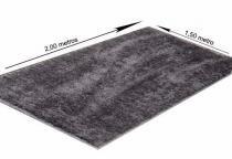 Tapetes linha Soft Villa Textil - 1,50x2,00m - Preto - Villa Textil