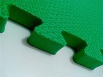 Tatame Tapete EVA Com Borda 50 X 50 X 2cm Verde -