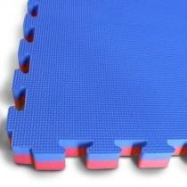 Tatame Tapete EVA Dupla Face Azul e Vermelho Bicolor -