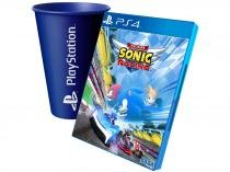 Team Sonic Racing para PS4 - Sega + Copo PlayStation Azul