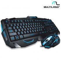 Teclado e Mouse Com Fio e Detalhes Azuis Gamer Lightning TC195  Multilaser - Multilaser