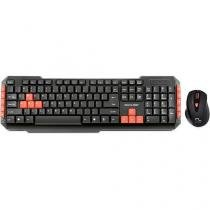 Teclado e mouse gamer red keys and buttons tc194 multilaser -