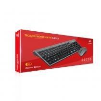 Teclado e Mouse Sem Fio K-W510SBK Preto C3Tech -