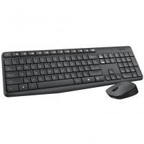 Teclado e Mouse - Sem fio - Logitech Wireless Combo MK235 - Preto - 920-007903 -