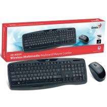 Teclado e Mouse Wireless Genius Preto Usb KB-8000X - Genius