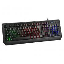 Teclado Gamer C3Tech KG-50BK Preto Led Multicolors -