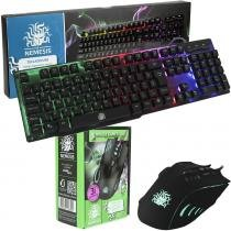 Teclado Gamer Nemesis Anti-Ghosting + Mouse Palm 2400dpi -