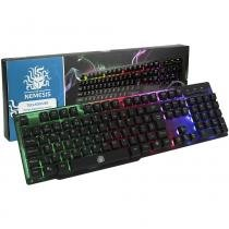 Teclado Gamer Nemesis Semimecânico Anti-Ghosting Usb Led Abnt -