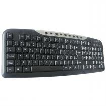 Teclado Light Usb Slim Preto E Prata Tc306 Newlink -