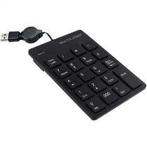 Teclado Numerico com Fio Retratil USB Preto Multilaser TC198 -
