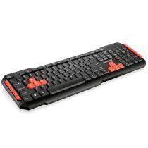 Teclado sem Fio 2.4GHZ Gamer USB Preto/Vermelho TC191 - Multilaser - Multilaser