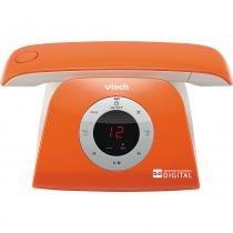 Tel sem Fio com Identificador/ Viva Voz /Secretária Dec 6.0 Vtech Retro Phone Laranja - Motorola