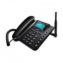Telefone celular de mesa quadriband dual chip ca42 preto aquario -