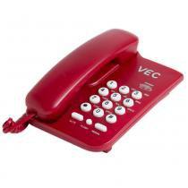 Telefone com Bloqueador Vec KXT3026 Vermelho -