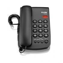 Telefone Com Fio Basico, Cor Preta E Com Indicação Luminosa - Elgin