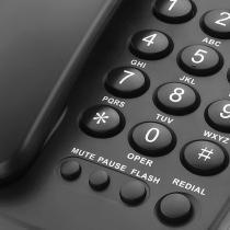Telefone com Fio Elgin TCF-2000 Preto -