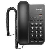 Telefone com Fio Elgin TCF 2200, Preto, Chave de Bloqueio, Função Hold -