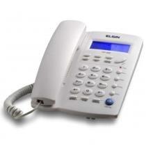 Telefone com Fio Elgin TCF-3000 Cinza Claro com Identificador de Chamadas -