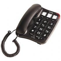 Telefone com Fio Elgin TCF2300 - com Viva Voz Preto