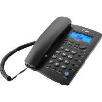 Telefone com Fio Identificador de Chamadas TCF3000 Preto ELGIN -
