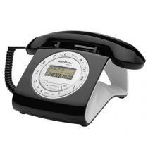 Telefone com Fio Intelbras Retrô Preto com Identificador de Chamadas - TC8312 - Intelbras