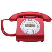 Telefone com Fio Intelbras Retrô Vermelho com Identificador de Chamadas - TC8312 - Intelbras