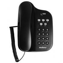 Telefone Com Fio Intelbras TC 500 - Chave Bloq. Preto