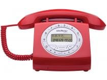 Telefone Com Fio Intelbras TC 8312 - Identificador de Chamada Viva Voz Vermelho
