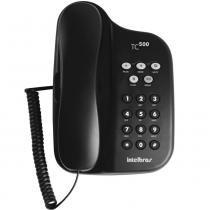 Telefone Com Fio IntelBras TC500 Preto - 4040060 -