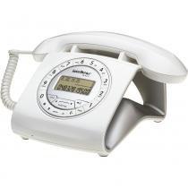 Telefone Com Fio Intelbras TC8312  Retro Branco, Identificador De Chamadas - 4030161 -
