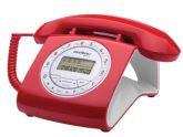 Telefone com Fio Intelbras TC8312, Vermelho, Viva voz - Intelbras