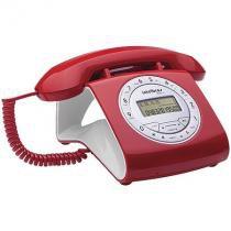 Telefone com Fio Intelbras TC8312 Viva Voz com Ajuste de Volume- Identificador de Chamadas -