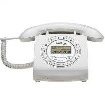 Telefone com fio intelbras tc8312 viva-voz com ajuste de volume identificador de chamadas branco -