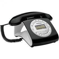 Telefone com fio intelbras tc8312 viva-voz com ajuste de volume identificador de chamadas preto intelbras 301913 -