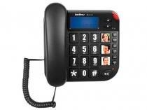 Telefone Com Fio Intelbras Tok Fácil ID de Mesa - com Identificador de Chamadas com Viva Voz Preto