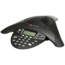 Telefone Com Fio Polycom SoundStation 2 - com Viva Voz Charcoal