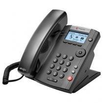 Telefone Com Fio Polycom VVX 201 - com Viva Voz Charcoal