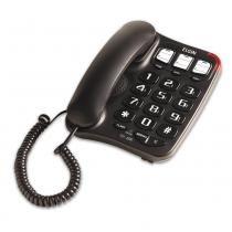 Telefone com Fio Preto, Chave Bloqueadora, Viva-Voz e Agenda Telefônica TCF 2300 - Elgin -
