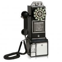 Telefone Com Fio Retro Classic Watson Preto 32.387  Classic - Classic