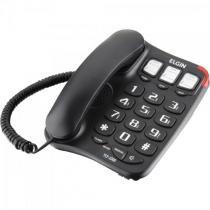 Telefone com fio tcf2300 preto elgin - Elgin