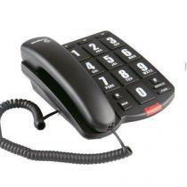 Telefone com fio tok facil preto intelbras 4000034 -