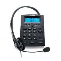 Telefone com Headset Elgin HST-8000 com Identificador de Chamadas e Base Antiderrapante - Elgin