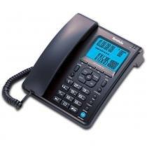 Telefone com Identificador/Bloqueador Capta Phone Top Ibratele - Preto/Prata -