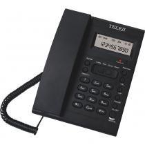 Telefone com Identificador e Bloqueador 46 V6 Teleji - Preto -